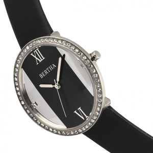 Bertha Ingrid Leather-Band Watch - Black - BTHBR9101