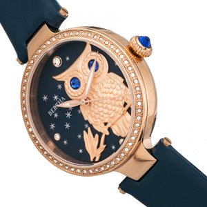 Bertha Rosie Leather-Band Watch - Rose Gold/Navy - BTHBR8806
