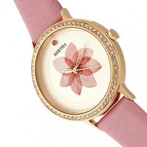 Bertha Delilah Leather-Band Watch - Rose Gold/Light Pink - BTHBR8606