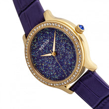 Load image into Gallery viewer, Bertha Cora Crystal-Encrusted Leather-Band Watch - Purple - BTHBR6003