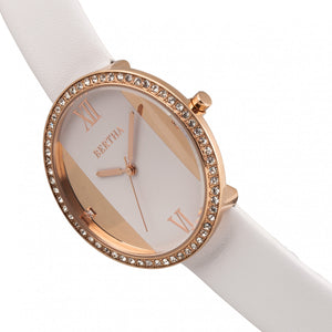Bertha Ingrid Leather-Band Watch - White - BTHBR9105