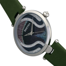 Load image into Gallery viewer, Bertha Trisha Leather-Band Watch w/Swarovski Crystals - Olive - BTHBR8001