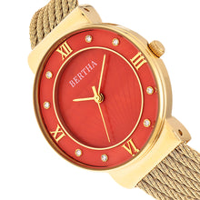 Load image into Gallery viewer, Bertha Dawn Mother-of-Pearl Cable Bracelet Watch - Gold/Orange - BTHBR9704