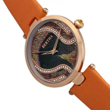 Load image into Gallery viewer, Bertha Trisha Leather-Band Watch w/Swarovski Crystals - Orange - BTHBR8004