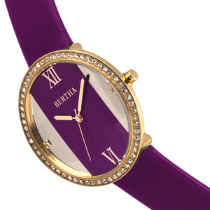 Bertha Ingrid Leather-Band Watch - Fuchsia - BTHBR9104