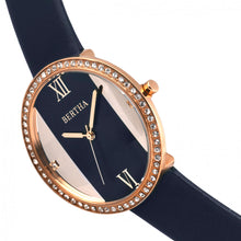 Load image into Gallery viewer, Bertha Ingrid Leather-Band Watch - Navy - BTHBR9106