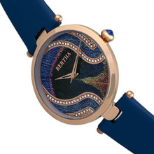 Load image into Gallery viewer, Bertha Trisha Leather-Band Watch w/Swarovski Crystals - Blue - BTHBR8005