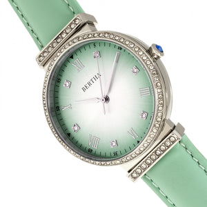 Bertha Allison Leather-Band Watch - Mint - BTHBR9302