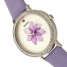 Load image into Gallery viewer, Bertha Delilah Leather-Band Watch - Silver/Lavender - BTHBR8602