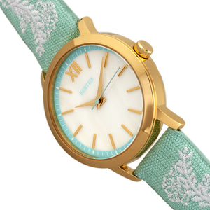 Bertha Penelope MOP Leather-Band Watch - Mint - BTHBR7302