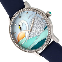 Load image into Gallery viewer, Bertha Grace MOP Leather-Band Watch - Navy - BTHBR9001