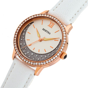 Bertha Dolly Leather-Band Watch - White  - BTHBS1005