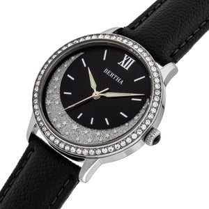 Bertha Dolly Leather-Band Watch - Black - BTHBS1001