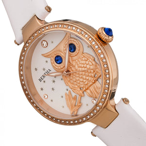 Bertha Rosie Leather-Band Watch - Rose Gold/White - BTHBR8805