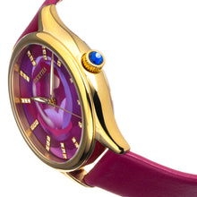 Load image into Gallery viewer, Bertha Georgiana Mother-Of-Pearl Leather-Band Watch - Gold/Magenta - BTHBS1103