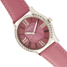 Load image into Gallery viewer, Bertha Sadie Mother-of-Pearl Leather-Band Watch - Pink - BTHBR8402