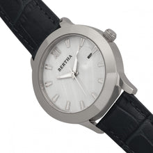 Load image into Gallery viewer, Bertha Eden Mother-Of-Pearl Leather-Band Watch w/Date - Black/Silver - BTHBR6501