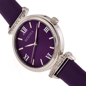 Bertha Jasmine Leather-Band Watch - Purple - BTHBR9602