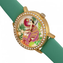 Load image into Gallery viewer, Bertha Luna Mother-Of-Pearl Leather-Band Watch - Turquoise - BTHBR7703