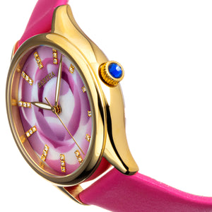 Bertha Georgiana Mother-Of-Pearl Leather-Band Watch - Gold/Pink - BTHBS1104