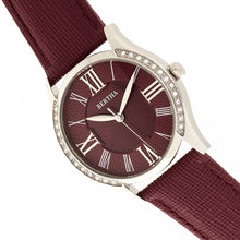 Load image into Gallery viewer, Bertha Sadie Mother-of-Pearl Leather-Band Watch - Burgundy - BTHBR8401