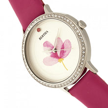 Load image into Gallery viewer, Bertha Delilah Leather-Band Watch - Silver/Fuchsia - BTHBR8603