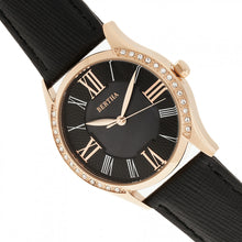Load image into Gallery viewer, Bertha Sadie Mother-of-Pearl Leather-Band Watch - Black - BTHBR8405