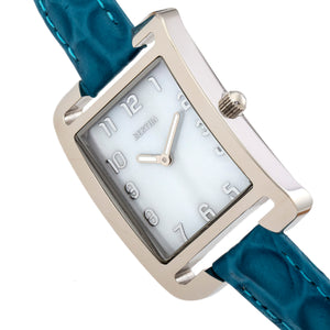 Bertha Marisol Swiss MOP Leather-Band Watch - Blue - BTHBR6901