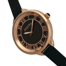Load image into Gallery viewer, Bertha Madison Sunray Dial Leather-Band Watch - Black/Rose Gold - BTHBR6707