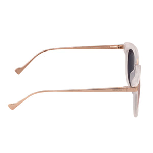 Bertha Arianna Polarized Sunglasses - Clear/Brown - BRSBR043CR