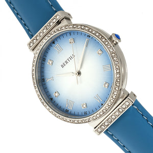 Bertha Allison Leather-Band Watch - Blue - BTHBR9303