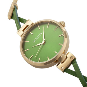 Bertha Amanda Criss-Cross Bracelet Watch - Gold/Green - BTHBR7603