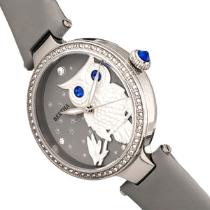 Bertha Rosie Leather-Band Watch - Silver/Grey - BTHBR8801