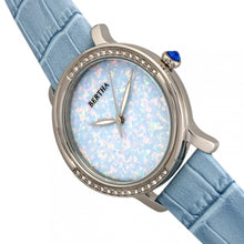 Load image into Gallery viewer, Bertha Courtney Opal Dial Leather-Band Watch - Powder Blue - BTHBR7902