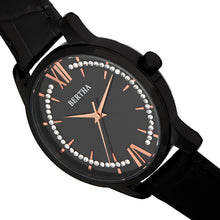 Load image into Gallery viewer, Bertha Prudence Leather-Band Watch - Black - BTHBS1405