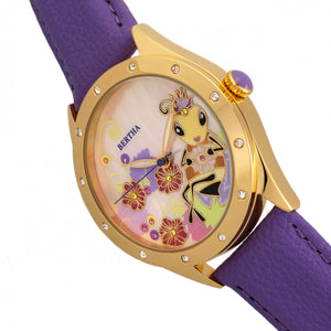 Bertha Ericka MOP Leather-Band Watch - Purple - BTHBR7205
