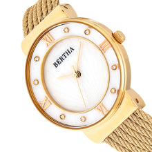 Load image into Gallery viewer, Bertha Dawn Mother-of-Pearl Cable Bracelet Watch - Gold - BTHBR9703