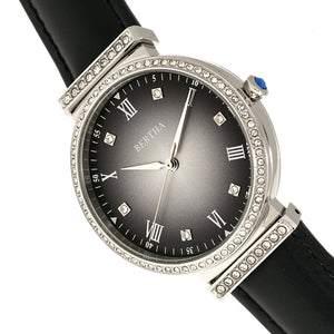 Bertha Allison Leather-Band Watch - Black - BTHBR9301