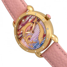 Load image into Gallery viewer, Bertha Estella MOP Leather-Band Ladies Watch - Gold/Pink - BTHBR5104