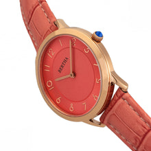 Load image into Gallery viewer, Bertha Abby Swiss Leather-Band Watch - Rose Gold/Coral - BTHBR6807
