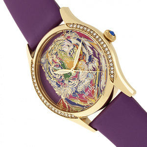 Bertha Annabelle Leather-Band Watch - Purple - BTHBR9204