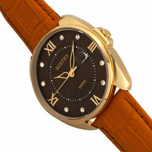 Load image into Gallery viewer, Bertha Amelia Leather-Band Watch w/Date - Orange - BTHBR6306