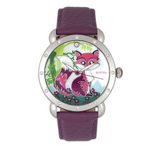 Load image into Gallery viewer, Bertha Vivica MOP Leather-Band Ladies Watch - Silver/Fuchsia - BTHBR3701