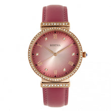 Load image into Gallery viewer, Bertha Allison Leather-Band Watch - Pink - BTHBR9306