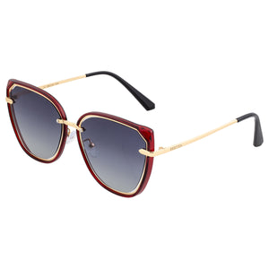 Bertha Rylee Polarized Sunglasses - Red/Black - BRSBR041RD