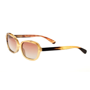 Bertha Harley Buffalo-Horn Polarized Sunglasses - Honey-Black/Brown - BRSBR004MC