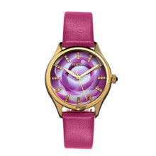 Load image into Gallery viewer, Bertha Georgiana Mother-Of-Pearl Leather-Band Watch - Gold/Pink - BTHBS1104