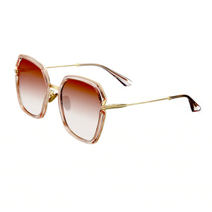 Bertha Teagan Polarized Sunglasses - Pink/Brown - BRSBR033BN