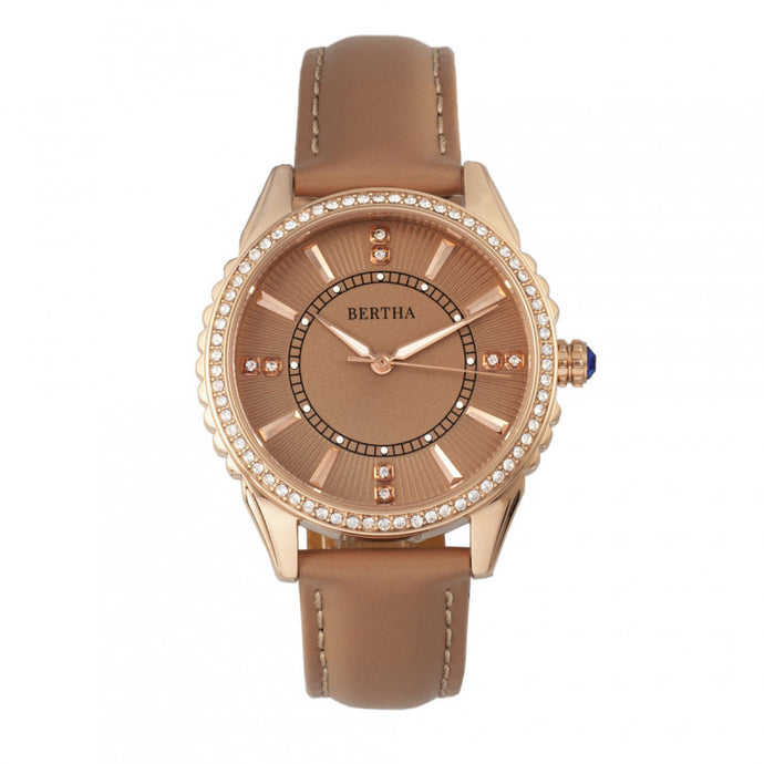 Bertha Clara Leather-Band Watch - BTHBR8105