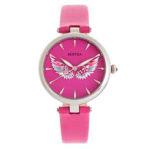 Bertha Micah Leather-Band Watch - Pink - BTHBR9405